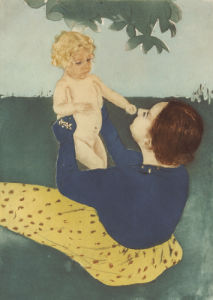 Under The Horse Chestnut Tree, 1896 by Mary Cassatt
