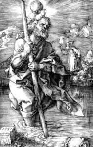 Saint Christopher Facing Right, 1521 by Albrecht Dürer
