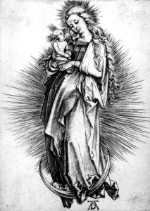 The Virgin And Child On A Crescent, 1499 by Albrecht Dürer