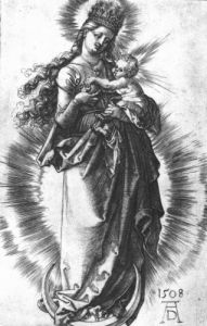 The Virgin And Child On A Crescent With A Starry Crown, 1508 by Albrecht Dürer