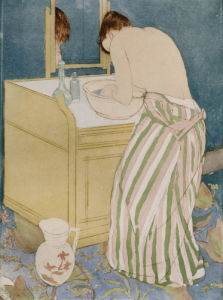 Woman Bathing, 1890 by Mary Cassatt