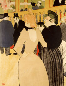 At the Moulin Rouge. La Gouloue And Her Sister, 1892 by Henri de Toulouse-Lautrec