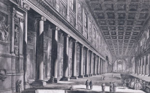 Interior Of The Basilica Of S. Maria Maggiore, Rome, 1761 by Giovanni Battista Piranesi