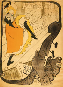 Jane Avril, 1893 by Henri de Toulouse-Lautrec
