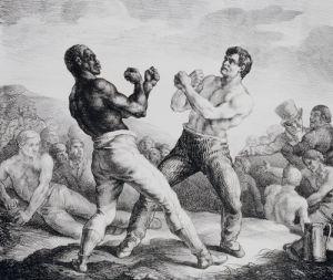 Boxeurs, 1818 by Jean-Louis-André-Théodore Géricault