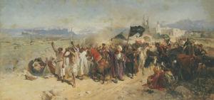 Shi'ite Muslims Commemorating The Martyrdom Of Hussein by Nikolaj Semenovic Samokis