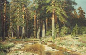 The Mast-Tree Grove, Study by Ivan Ivanovich Shishkin