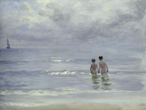 Boys Bathing On The Beach At Skagen, 1899 by Peder Severin Kröyer