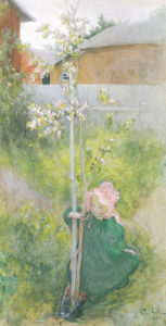 Appleblossom, 1894 by Carl Larsson