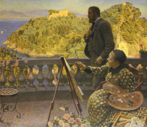 The Emperor And Empress Friedrich III At Villa Carnavon, 1900 by Kristian Zahrtmann