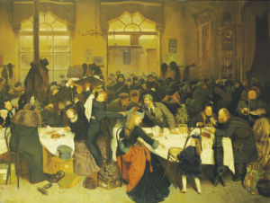 At The Railway Restaurant, Warsaw, 1873 by Knut Ekwall