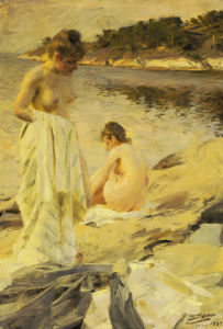 Les Baigneuses, 1889 by Anders Leonard Zorn