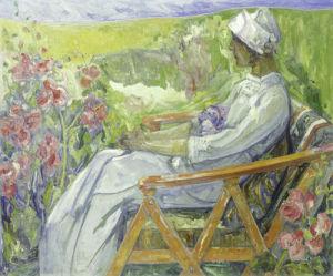 In The Garden, 1911 by Emile Zoir