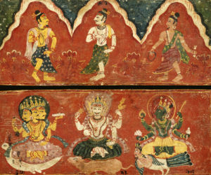 A Pair Of Nepalese Polychrome Wooden Manuscript Covers by Christie's Images