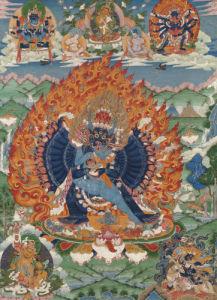 Vajrabhairava With His Eighteen Legs, Tibet by Christie's Images
