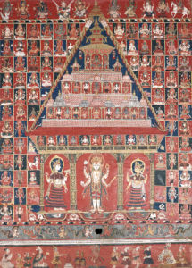 A Nepalese Paubha Depicting A Visnu Shrine, Dated 1716 by Christie's Images
