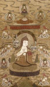 A Sino Tibetan Silk Embroidered Silk Thang.Ka, Circa 1800 by Christie's Images