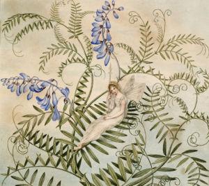 A Fairy Resting Among Flowers by Amelia Jane Murray Lady Oswald