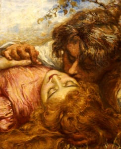 The Kiss, 1894 by Henry John Stock
