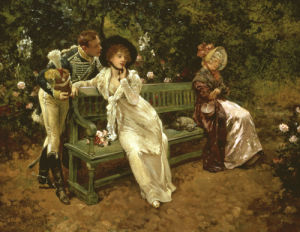Why Hesitate, 1899 by Henry Gillard Glindoni