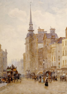 Looking Down Ludgate Hill From The Steps Of St Pauls, 1900 by Herbert Menzies Marshall