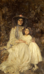 Lady Dickson-Poynder And Her Daughter Joan, Circa 1905 by Sir James Jebusa Shannon