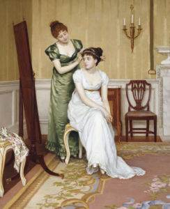 Preparing For The Ball, 1896 by Charles Haigh-Wood