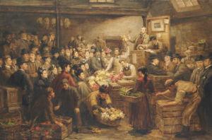 An Edinburgh Flower Market, circa 1899 by Arthur Percy Dixon