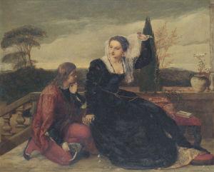 Olivia And Viola by James Clarke Hook