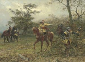 The Boscobel Oak, 1889 by Ernest Crofts