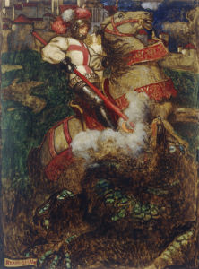 St George Slaying The Dragon, 1908 by John Byam Liston Shaw