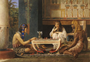 Egyptian Chessplayers by Sir Lawrence Alma-Tadema