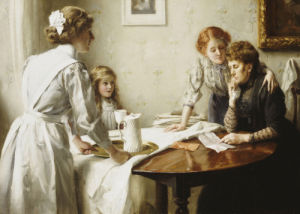 The Letter, 1912 by Sir Thomas Benjamin Kennington