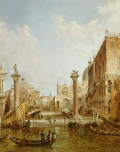 The Columns Of St. Marks, Venice, 1887 by Alfred Pollentine
