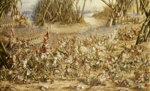 The Batrachomyomachia: The Battle Between The Frogs And The Mice, 1871 by Henry Barnabus Bright