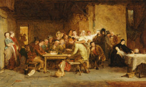 A Sketch For 'The Raffle', 1868 by George Smith