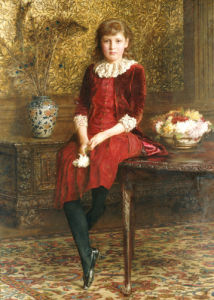 Portrait Of Mabel by Edward Gregory