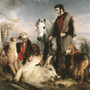 Scene in Chillingham Park: Portrait of Lord Ossulston by Sir Edwin Henry Landseer