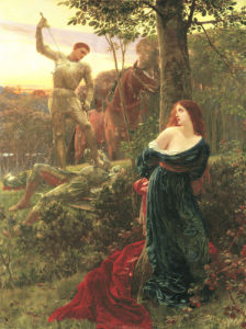 Chivalry, 1885 by Sir Frank Dicksee