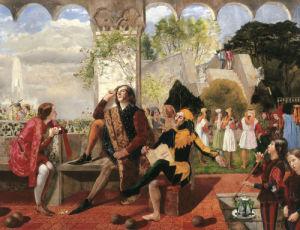 Twelfth Night. Act II, Scene IV by Walter Howell Deverell