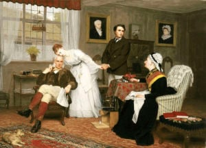 The Only Daughter, 1875 by James Hayllar