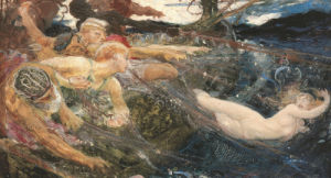 Study For 'The Sea Maiden' by Herbert James Draper