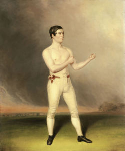 Portrait Of A Prizefighter, Traditionally Identified As Dick Cain, C.1830 by English School