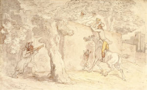The Stolen Kiss by Thomas Rowlandson