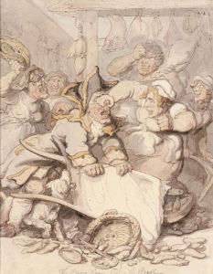 The Barrow Women Basting The Beadle by Thomas Rowlandson