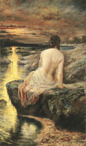 Sunset by Alfred Joseph Woolmer