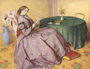 The Love Letter, January 1866 by William Shakespeare Burton