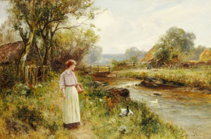 By The River by Ernest Walbourne