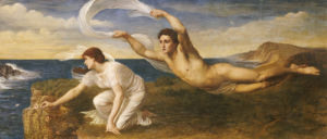 Boreas And Orithyia by Oswald Von Glehn