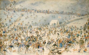 Figures Ice Skating, 1876 by Charles Altamount Doyle
